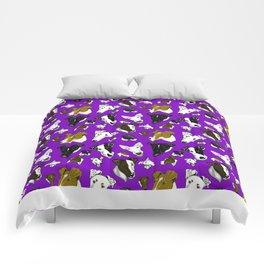 Smooth Fox Terrier Purple Comforters