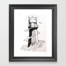 lighthouse found Framed Art Print