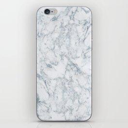 Vintage elegant navy blue white stylish marble iPhone Skin