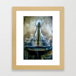 Fountain Bleu Framed Art Print