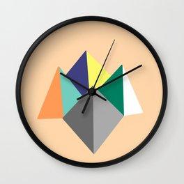 Paku Paku, original colours on peach Wall Clock