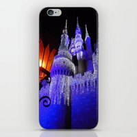 spires iPhone & iPod Skins featuring Blue Spires by Dragons Laire