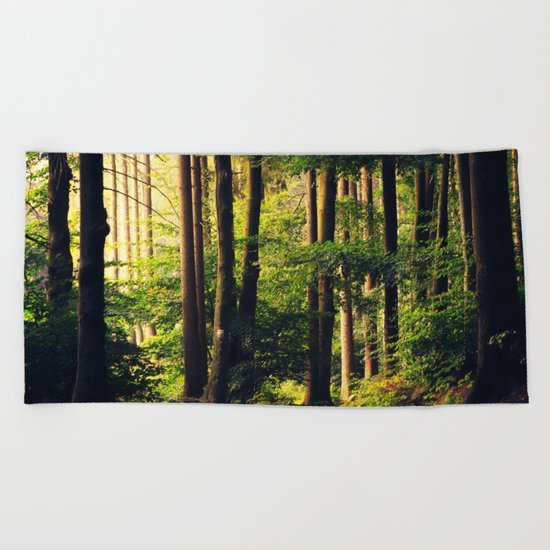 Woods Are Calling Beach Towel