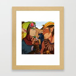 Jak and Sphinx Framed Art Print