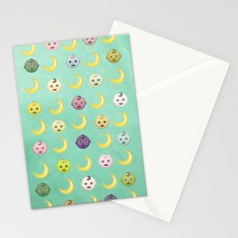 Pastel Moon Babies Stationery Cards