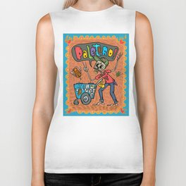 Day of the Dead PALETERO Sings with Angel Popsicles Biker Tank