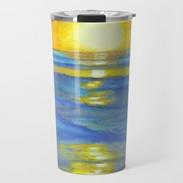 Sunset and ocean waves Travel Mug