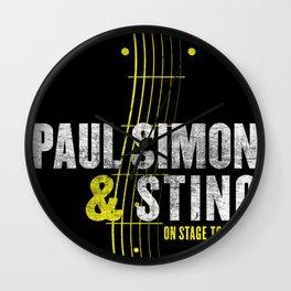 PAUL SIMON ON STAGE TOGETHER TOUR DATES 2019 KAMBOJA Wall Clock