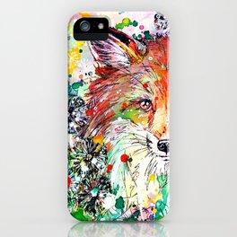 Hide and Seek - Fox Painting iPhone Case