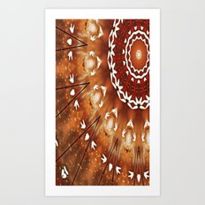 Tribal Sun #1 Art Print