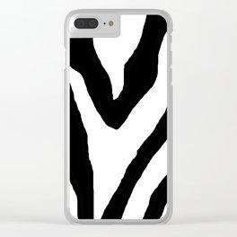 Zebra ZZ Clear iPhone Case