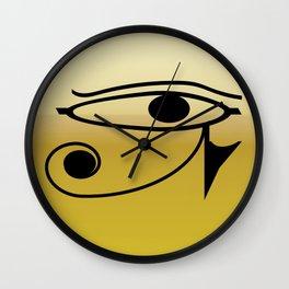 Eye of Horus1 Wall Clock