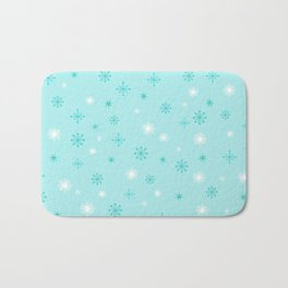 AFE Turquoise Snowflakes Bath Mat