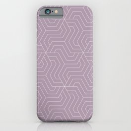 Lilac Luster - violet - Modern Vector Seamless Pattern iPhone Case
