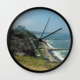 Beautiful Herradura Beach Lima Peru Wall Clock