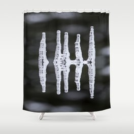 Icicles Reflections On A Bokeh Background Black And White #decor #society6 Shower Curtain
