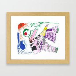 The Moon Sees Me Framed Art Print
