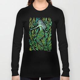 Kelp Forest Mermaid – Green Palette Long Sleeve T-shirt