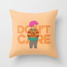 Ms. No Care Throw Pillow