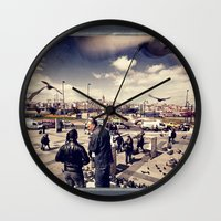 istanbul Wall Clocks featuring Istanbul by Anto Bozzini