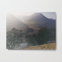 misty reflections. buttermere, lake district, uk. Metal Print