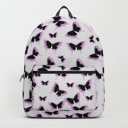 Black and pink butterflies Backpack