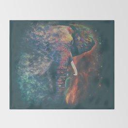 Tribal Elephant Throw Blanket
