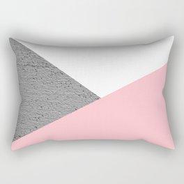 Concrete vs pink geometrical Rectangular Pillow