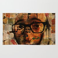 woody allen Area & Throw Rugs featuring Woody A. by Joe Ganech