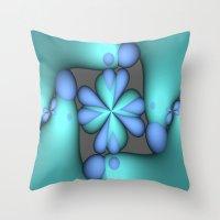 megan lara Throw Pillows featuring Lara by Imagevixen