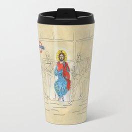 Jesus on the Tube, He is among us Travel Mug
