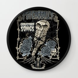 Graveyard Songs Wall Clock