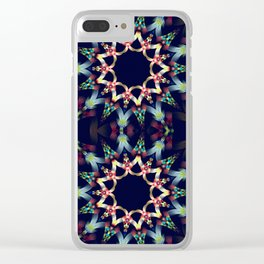 Ice blue and winter red fantasy star Clear iPhone Case