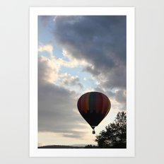 Adrift Amongst the Clouds Art Print