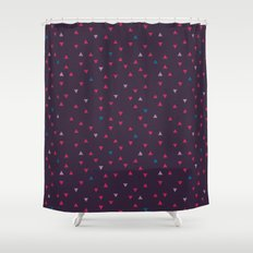 DOWN UP / black purple / raspberry / blackberry ice / shock blue Shower Curtain