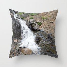 Waterfall below the Silver Cloud Mine, at 11,413 feet Throw Pillow