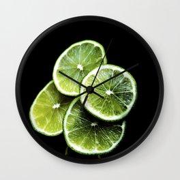 lemon lima Wall Clock