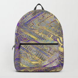 Tribal  Ethnic Boho Pattern gold and gentle purples Backpack