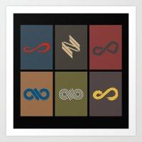 infinite Art Prints featuring Infinite by Sara Eshak