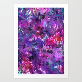 Violet Fields Art Print