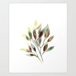 Leaves branch Art Print