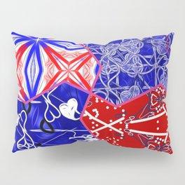 Tile #5 Red-White-Blue Collage Pillow Sham