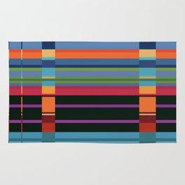 Colorful Lines And Retangles Geometric Abstract Art Digitalart Gift Rug