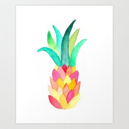 Modern Pineapple Art Print