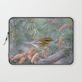 A Townsend's Warbler Spruces Up Laptop Sleeve