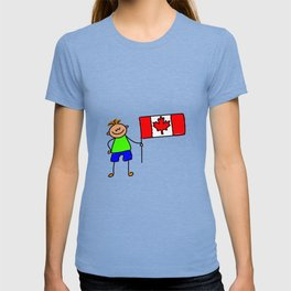 Canadian Flag Kid T-shirt