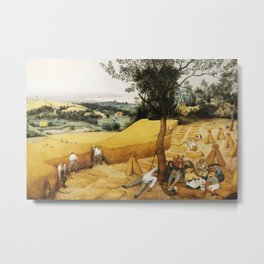 The Harvesters by Pieter Bruegel the Elder, 1565 Metal Print