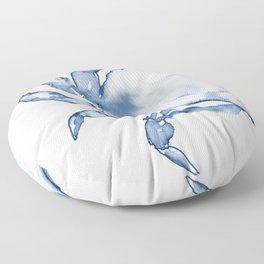 Coastal Crab in Watercolor, Navy Blue (Left Half in Set) Floor Pillow