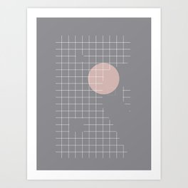 Neutral Gray #abstract #fall #color Art Print