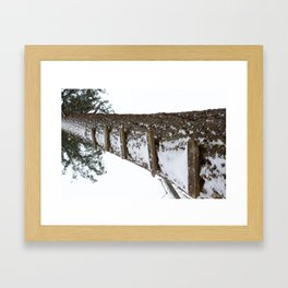 Stairway to Snow Framed Art Print